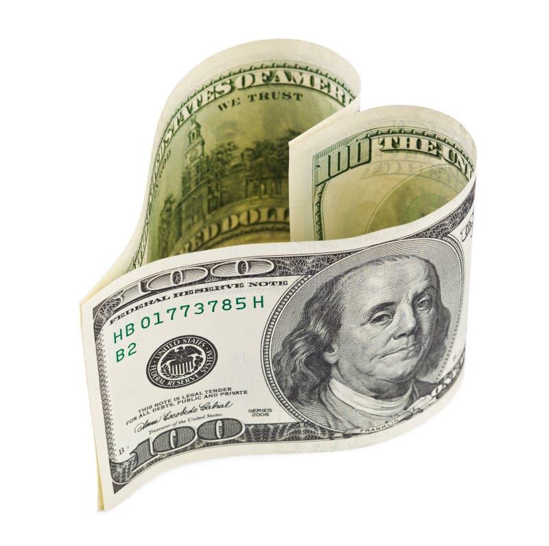 Het hart van het geld royalty-vrije stock afbeeldingen
