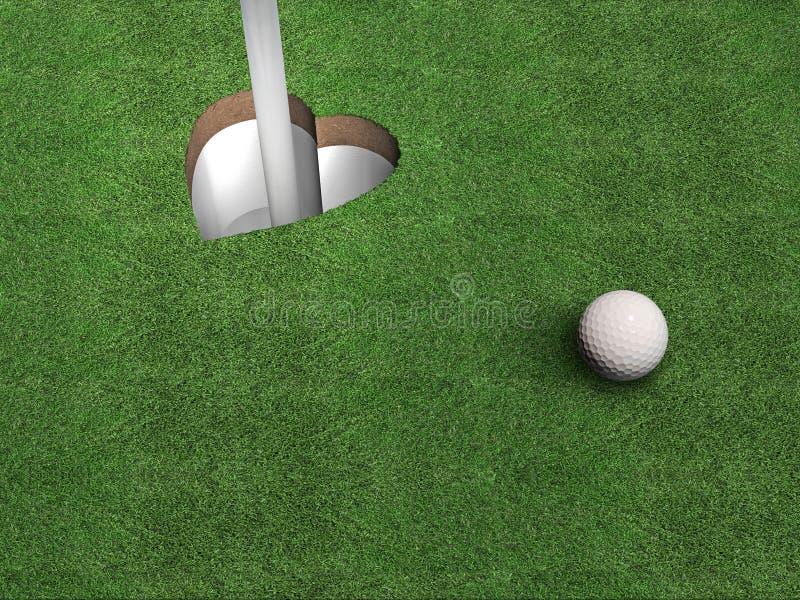 Het Hart van het golf royalty-vrije illustratie