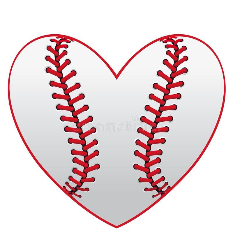 Het hart van het honkbal royalty-vrije illustratie