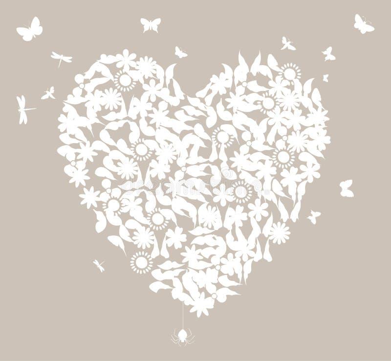 Het hart van huwelijk vector illustratie
