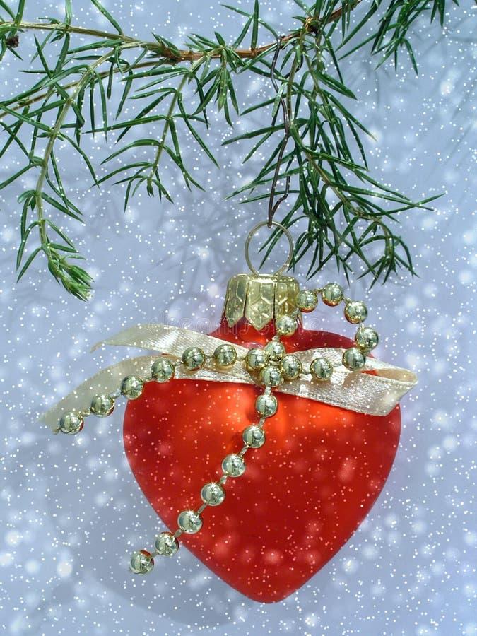 Het hart van Kerstmis. stock afbeelding