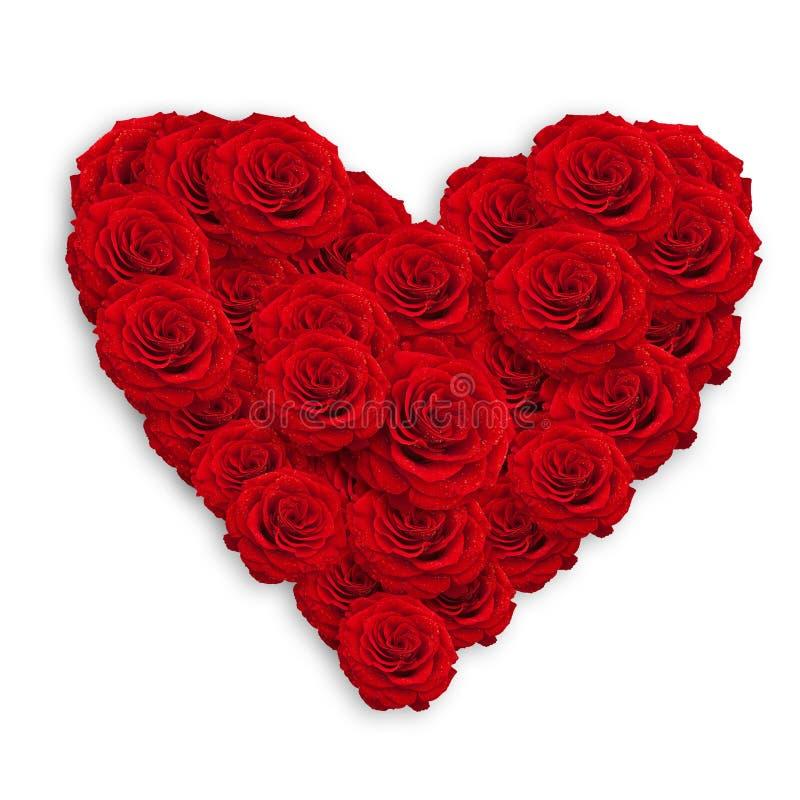 Het hart van rozen royalty-vrije stock foto's