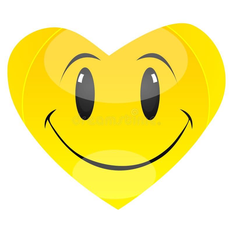 Het hart van Smiley vector illustratie