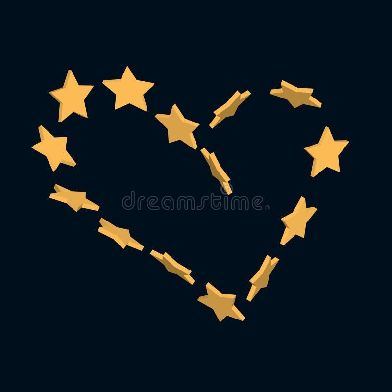 Het hart van sterren stock illustratie