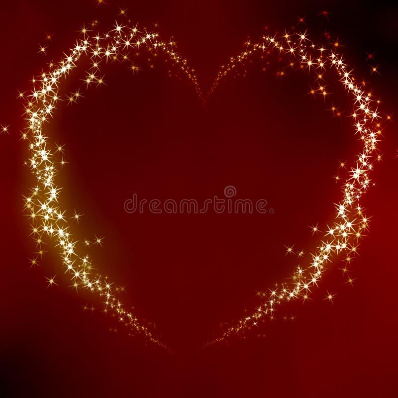 Het hart van valentijnskaarten royalty-vrije illustratie