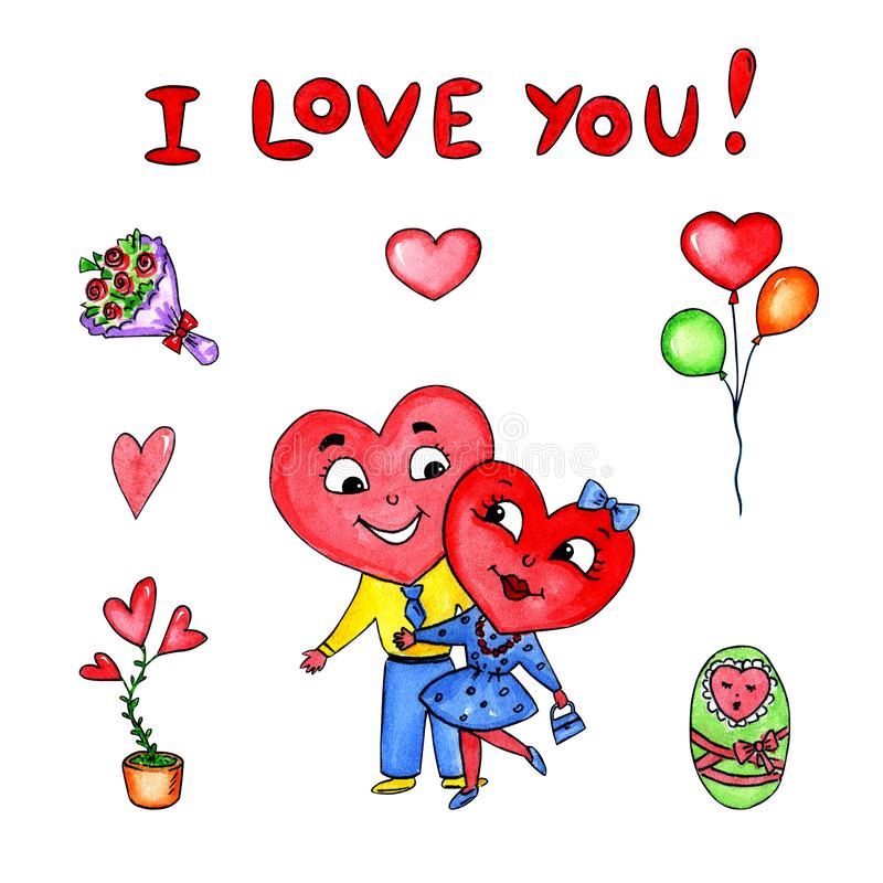 Het hart van vruchten op de plaat vector illustratie