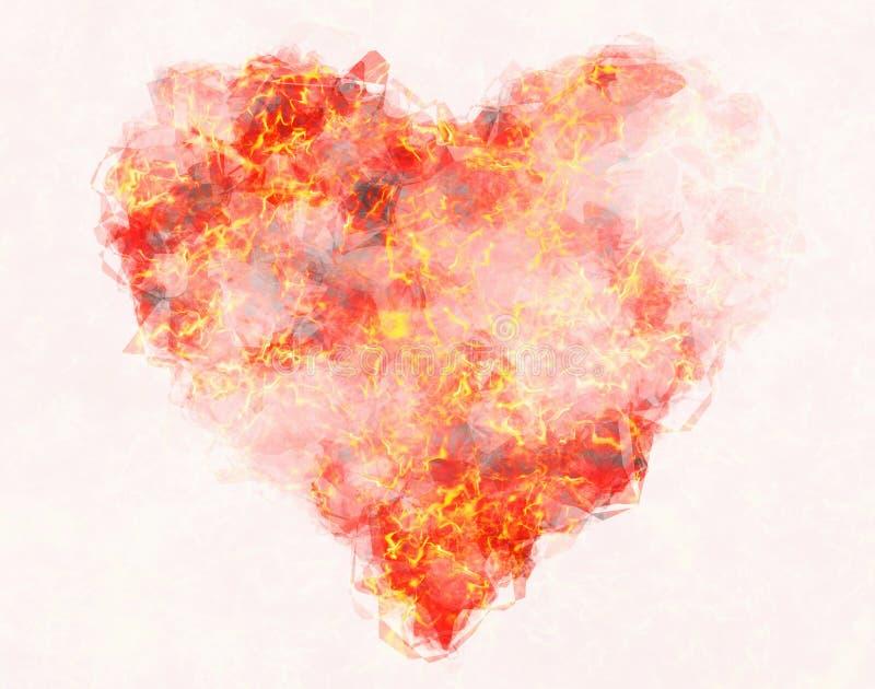 Het hartachtergrond van de hittebrand royalty-vrije illustratie