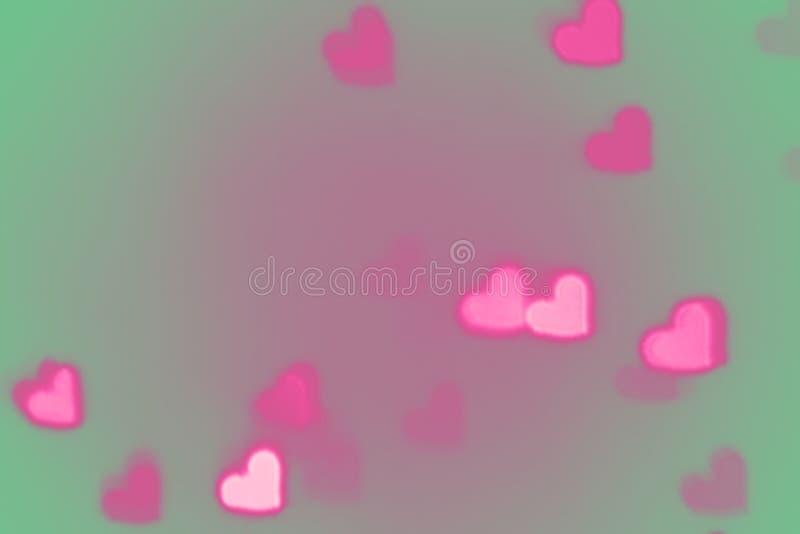 Het hartachtergrond van de valentijnskaartendag stock illustratie