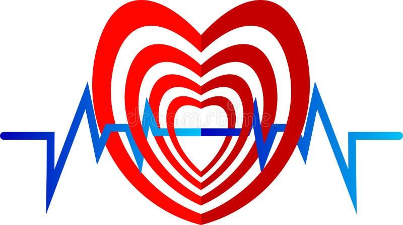 Het hartembleem van de biet vector illustratie