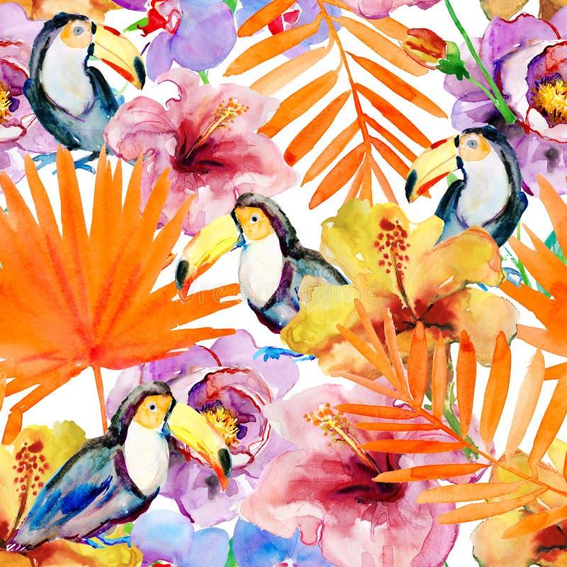Het Hawaiiaanse Naadloze Patroon van Aloha stock illustratie