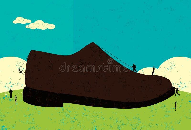 Het hebben van grote te vullen schoenen vector illustratie
