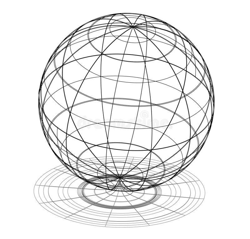 Het heelal van de wetenschap vector illustratie
