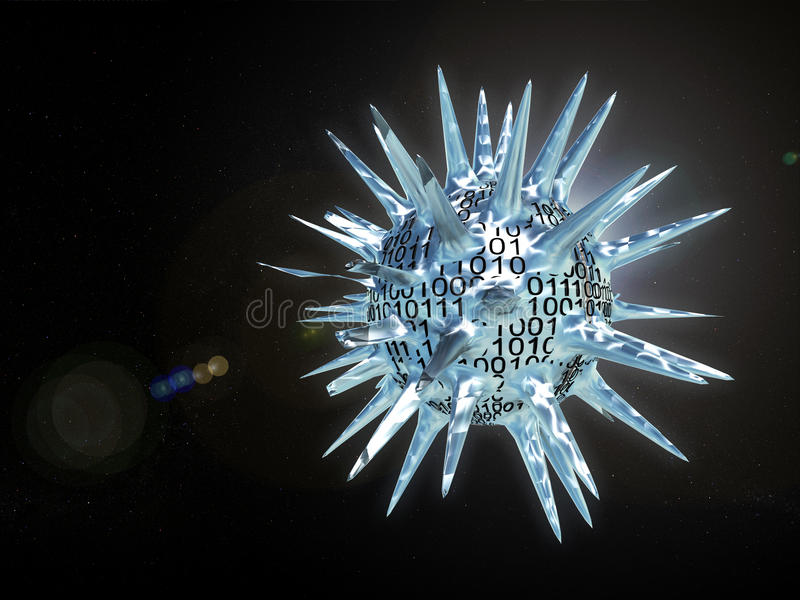 Het heelal van het Informaticalvirus vector illustratie