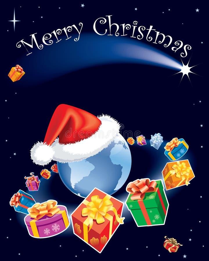 Het heelal van Kerstmis stock illustratie