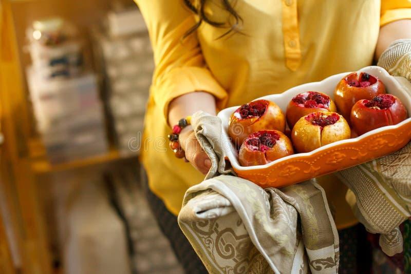 Het heerlijke dessert van de Herfst stock afbeeldingen