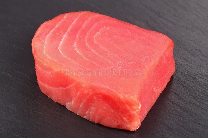 Het heerlijke Verse ruwe lapje vlees van tonijnvissen stock foto's