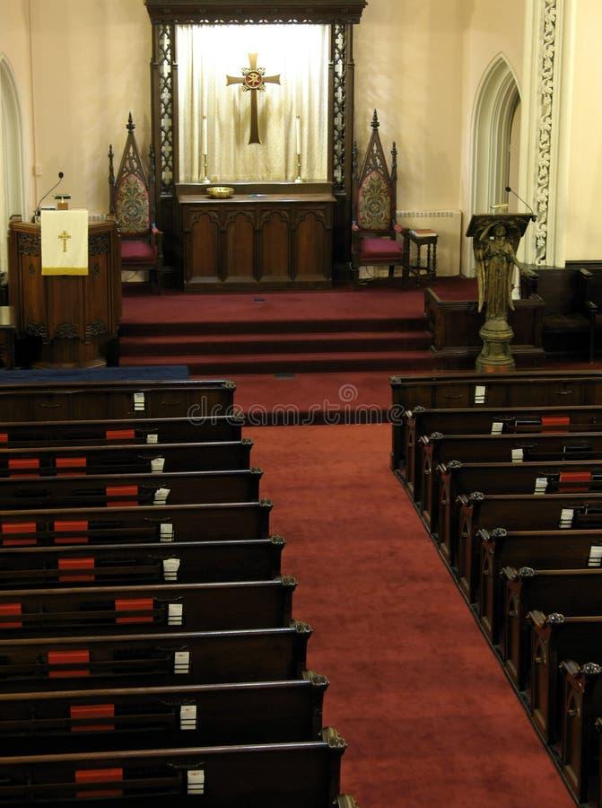 Het heiligdom van de kerk stock foto's