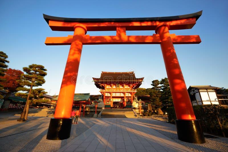 Het heiligdom van Fushimi inari-Taisha in Kyoto royalty-vrije stock afbeelding