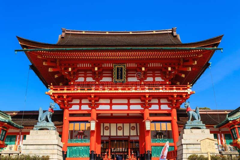 Het Heiligdom van Fushimiinari in Kyoto royalty-vrije stock foto's