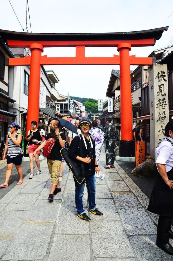 Het Heiligdom van Fushimiinari in Kyoto, Japan royalty-vrije stock afbeeldingen