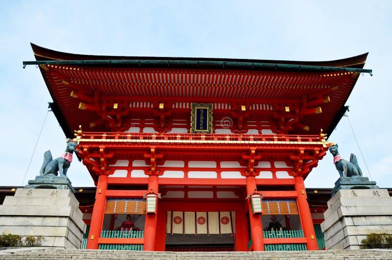 Het Heiligdom van Fushimiinari Taisha royalty-vrije stock foto's