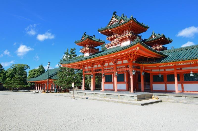Het Heiligdom van Heian stock fotografie