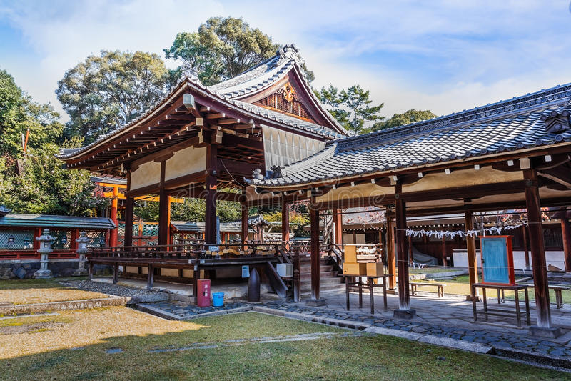 Het Heiligdom van Himurojinja in Nara stock foto