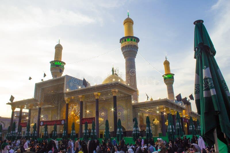 Het heiligdom van Imam Moussa al Kadhim royalty-vrije stock fotografie