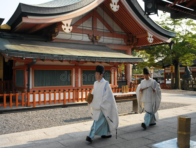 Het Heiligdom van Japan - van Kyoto - van Fushimi Inari Taisha stock foto