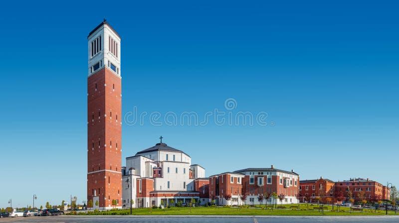 Het Heiligdom van pausjohannes paulus ii in Krakau, Polen stock afbeeldingen