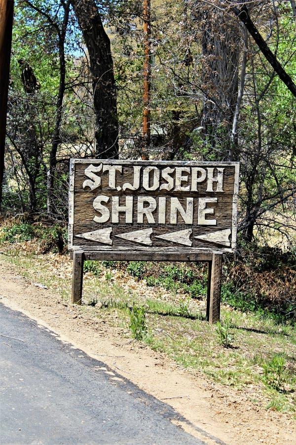 Het Heiligdom van Saint Joseph van de Bergen, Yarnell, Arizona, Verenigde Staten stock fotografie