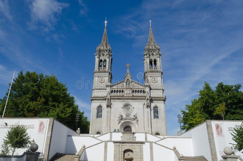 Het Heiligdom van San Torcato, dichtbij Guimaraes portugal stock afbeeldingen