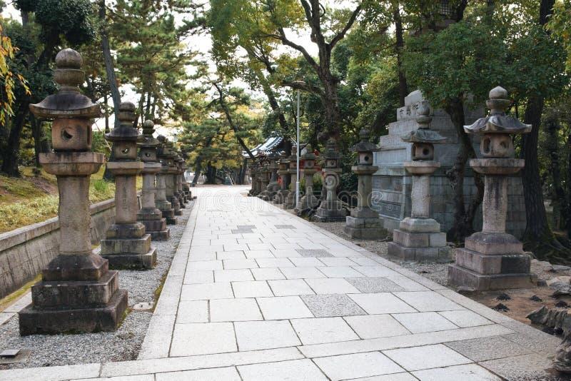 Het Heiligdom van Sumiyoshitaisha, Osaka royalty-vrije stock afbeeldingen