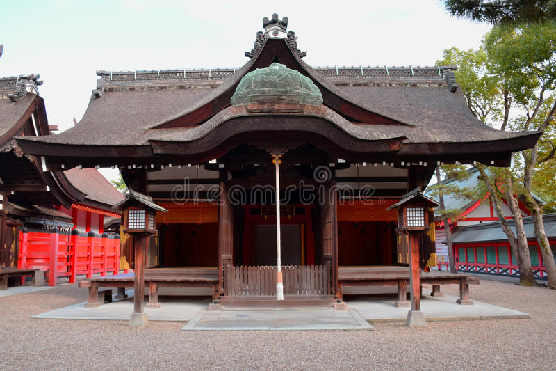 Het Heiligdom van Sumiyoshitaisha, Osaka stock afbeelding