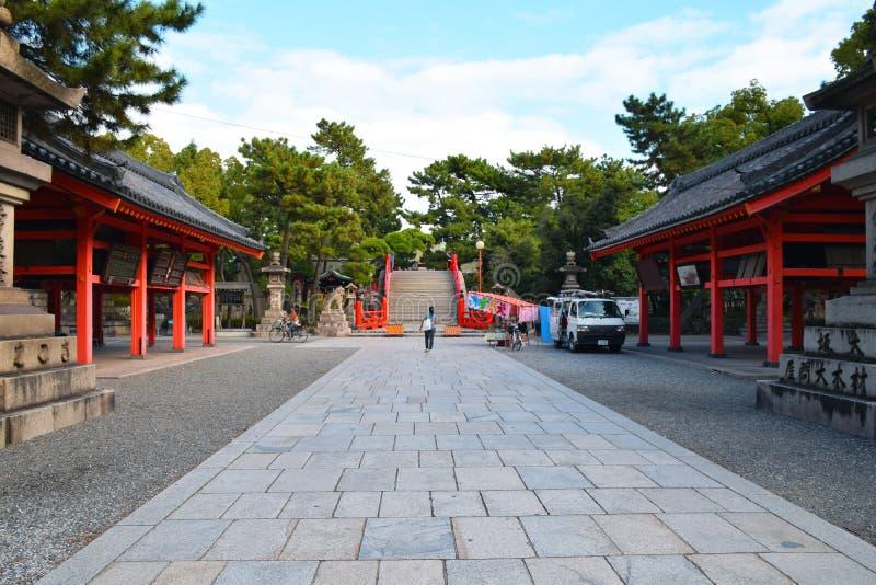 Het Heiligdom van Sumiyoshitaisha, Osaka, Japan stock foto