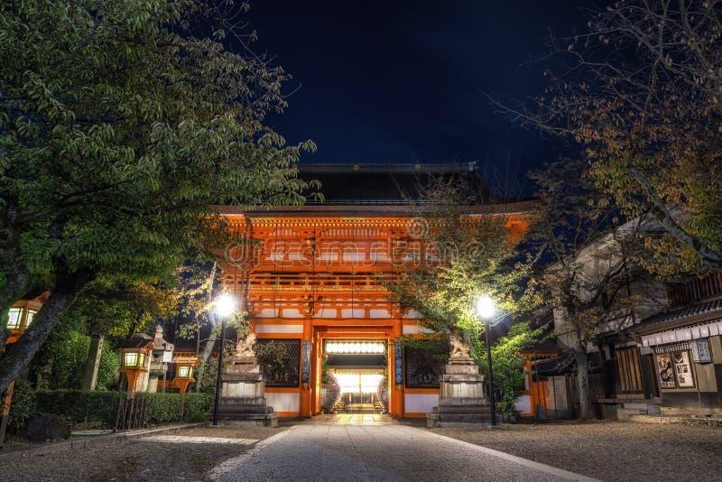 Het heiligdompoort van Yasakajinja stock foto's