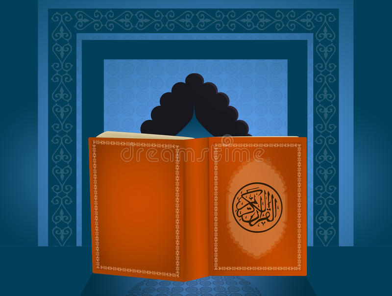 Het heilige boek van Koran vector illustratie