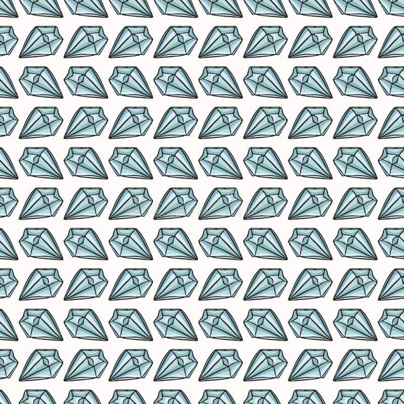 Het heilige Esoterische Vectorpatroon van Kwartscrystal magic hand drawn seamless royalty-vrije illustratie