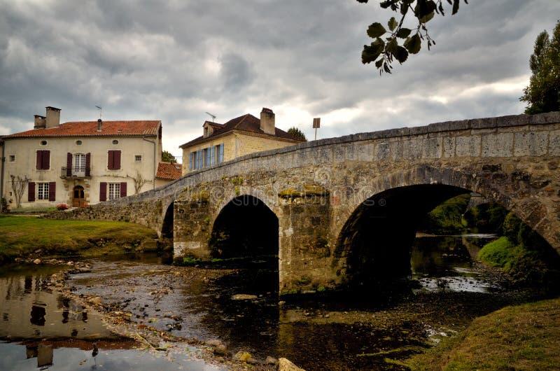 Het heilige-jean-de-Cole is een middeleeuws dorp in het noorden van Dordogne, Frankrijk stock foto
