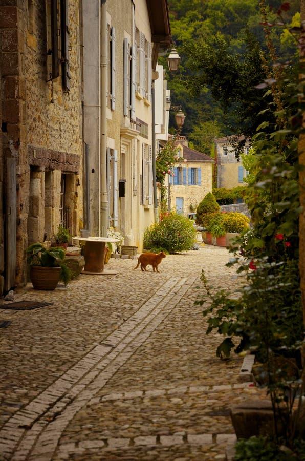 Het heilige-jean-de-Cole is een middeleeuws dorp in het noorden van Dordogne, Frankrijk royalty-vrije stock foto's