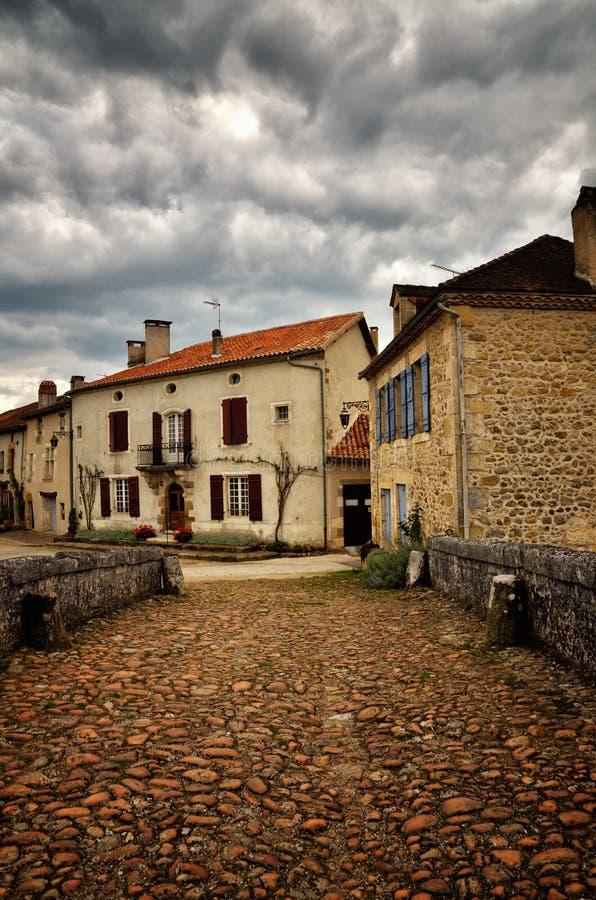 Het heilige-jean-de-Cole is een middeleeuws dorp in het noorden van Dordogne, Frankrijk royalty-vrije stock afbeelding
