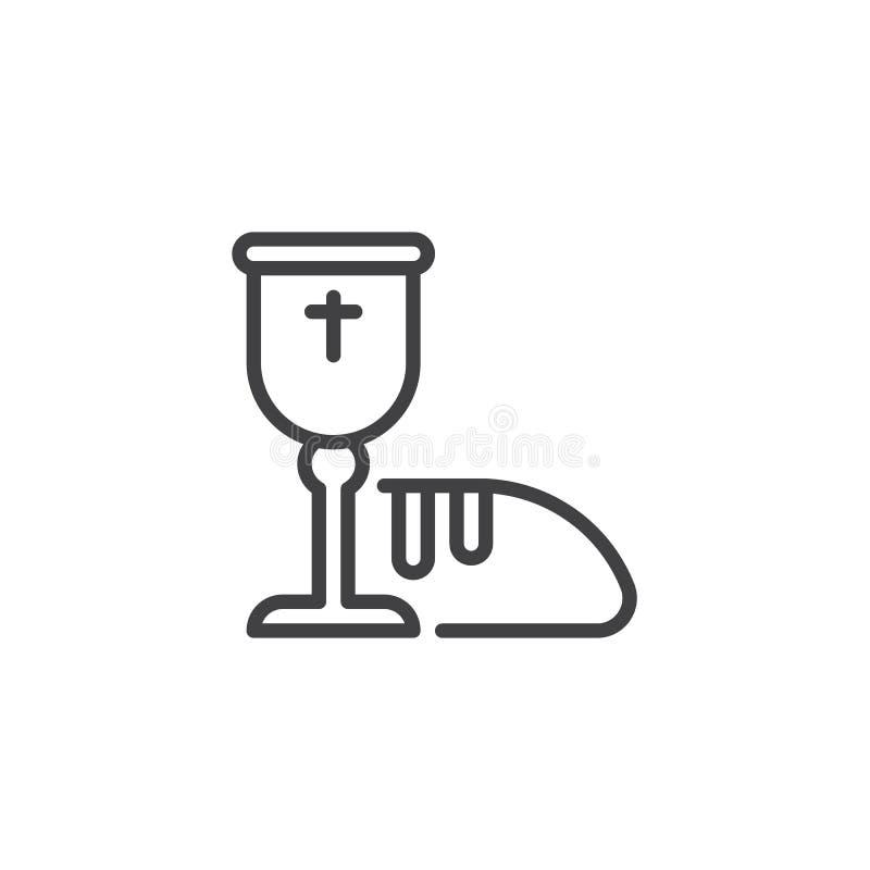 Het heilige pictogram van de kerkgemeenschaplijn stock illustratie