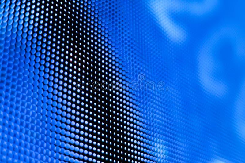 Het heldere gekleurde blauwe LEIDENE smd scherm stock fotografie
