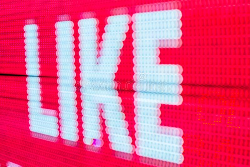 Het heldere gekleurde lichte LEIDENE smd scherm stock afbeelding