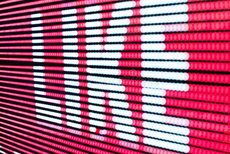 Het heldere gekleurde lichte LEIDENE smd scherm stock foto