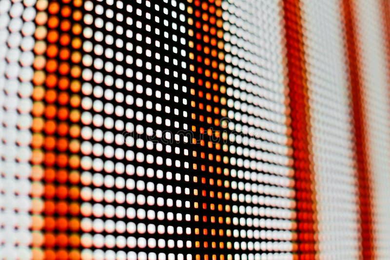 Het heldere gekleurde witte en rode LEIDENE smd scherm royalty-vrije stock afbeeldingen