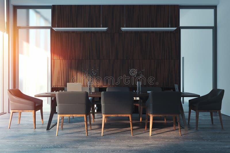 Het heldere moderne binnenland van de conferentieruimte het 3d teruggeven stock foto