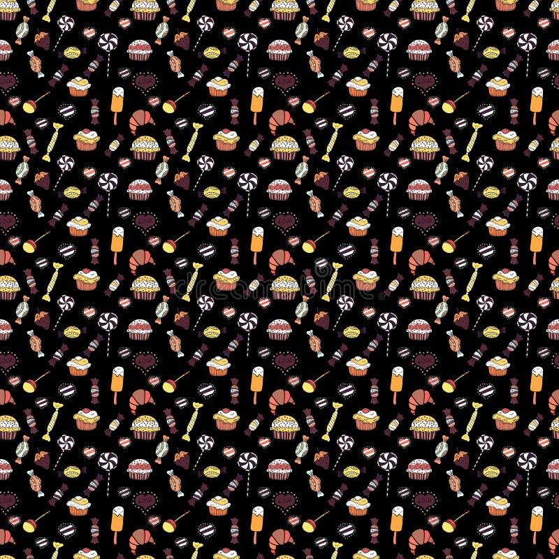 Het heldere naadloze vectorpatroon van de confettienpartij vector illustratie