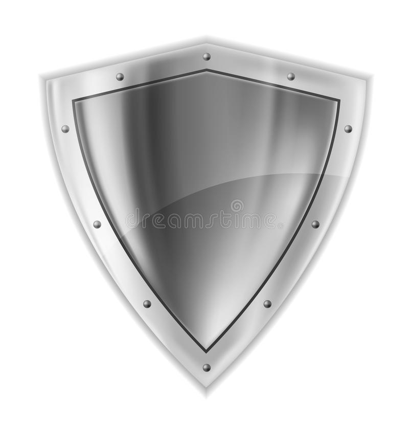 Het heldere zilver shiled vector illustratie