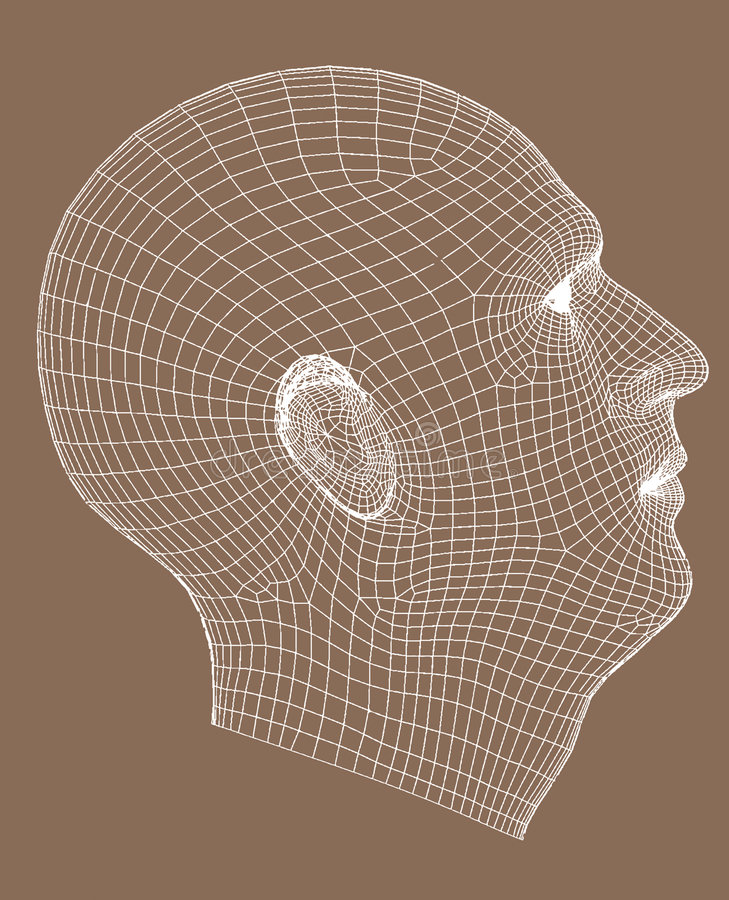 Het helft-gezicht geeft de oude mens terug vector illustratie